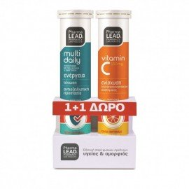 PharmaLead Promo Multi Daily 20 Αναβράζοντα Δισκία & Vitamin C 550mg 20 Αναβράζοντα Δισκία