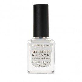 Korres Gel Effect Nail Colour 02 Porcelain White 11 ml