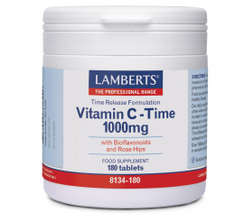 Lamberts Vitamin C-Time Release 1000mg, 180 Tabs