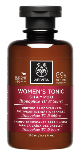 Apivita Τονωτικό Σαμπουάν Κατά της Τριχόπτωσης για Γυναίκες Hippophae TC & Δάφνη 250ml