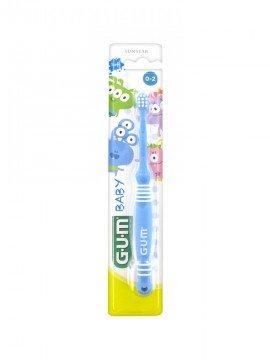 Gum 213 Baby Soft Μπλε Οδοντόβουρτσα 0-2 Ετών 1τμχ