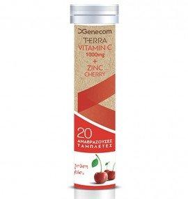Genecom Terra Vitamin C 1000 mg & Zinc 10 mg Γεύση Κεράσι 20 eff tabs
