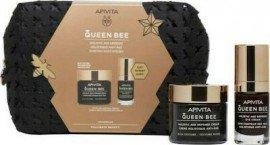 Apivita Queen Bee Kρέμα Ημέρας Ολιστικής Αντιγήρανσης Πλούσιας Yφής με Βασιλικό Πολτό, 50ml & Κρέμα Ματιών Ολιστικής Αντιγήρανσης με Βασιλικό Πολτό, 15ml