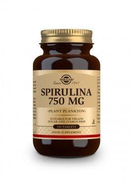 Solgar Spirulina 750mg, Σπιρουλίνα 100 ταμπλέτες