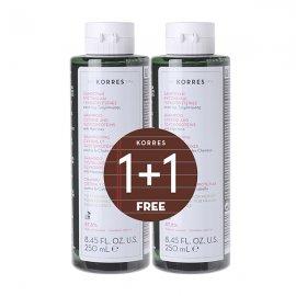 Korres Σαμπουάν Τριχόπτωσης Γυναικείο Κυστίνη & Γλυκοπρωτεΐνες 250 ml 1+1 Δώρο