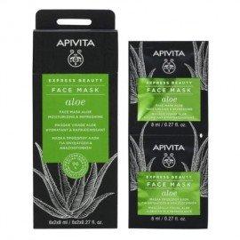Apivita Express Beauty Face mask Aloe Moisturizing 2 x 8 ml