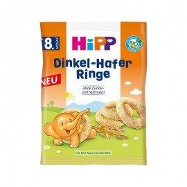 Hipp Dinkel - Hafer Ringe Δαχτυλίδια Όλυρα & Βρώμη 30 gr