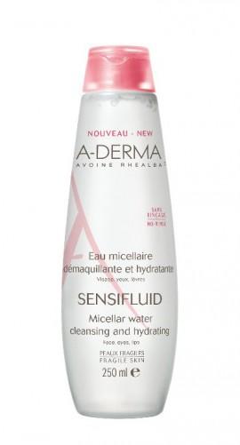 A-Derma Sensifluid Eau Micellaire Νερό Καθαρισμού & Αφαίρεσης Μακιγιάζ για το Ευαίσθητο Δέρμα - 250ml