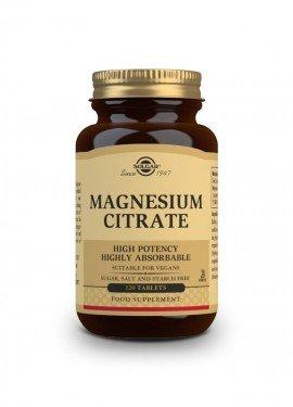 Solgar Citrate Magnesium 200mg, Καρδιακοί Παλμοί, Νευρικό Σύστημα tabs 120s