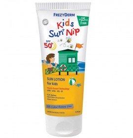 Frezyderm Kids Sun+Nip SPF50 Παιδικό Αντηλιακό Γαλάκτωμα για Πρόσωπο & Σώμα 175ml
