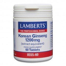 Lamberts Korean Ginseng (Panax Ginseng) 1200mg 60 Tablets