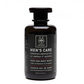 Apivita Mens Care Σαμπουάν-Αφρόλουτρο κάρδαμο & πρόπολη 250 ml