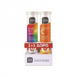 Pharmalead Πακέτο 1+1 Multi A to Z+Q10 Πολυβιταμίνες & Δώρο Vitamin C 550mg 20+20 αναβράζοντα δισκία