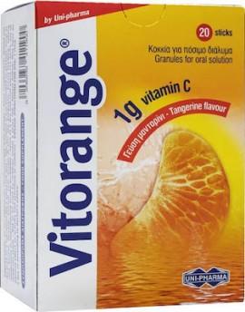 Uni-Pharma Vitorange 1gr Vitamin C Μανταρίνι 20Sticks