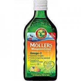 Mollers Cod Liver Oil Tutti Frutti, Μουρουνέλαιο με Γεύση Φρούτων 250ml