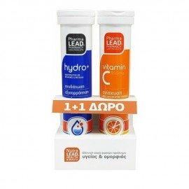 Pharmalead Promo Hydro+ 20 αναβράζοντα δισκία & Vitamin C 550mg 20 αναβράζοντα δισκία