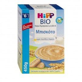 Hipp Κρέμα Δημητριακών με Γάλα & Μπισκότο 450 gr
