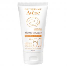 Avene Soins Solaires, Minerale Creme, Μη Ανεκτικό Δέρμα SPF50+, 50ml