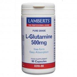 Lamberts L-Glutamine 500mg Γλουταμίνη 90 Caps