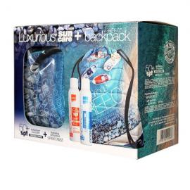 Intermed Luxurious Greece Antioxidant Sunscreen Invisible Spray SPF50+ 200 ml + Hydrating Antioxidant Spray Mist 200 ml + Backpack